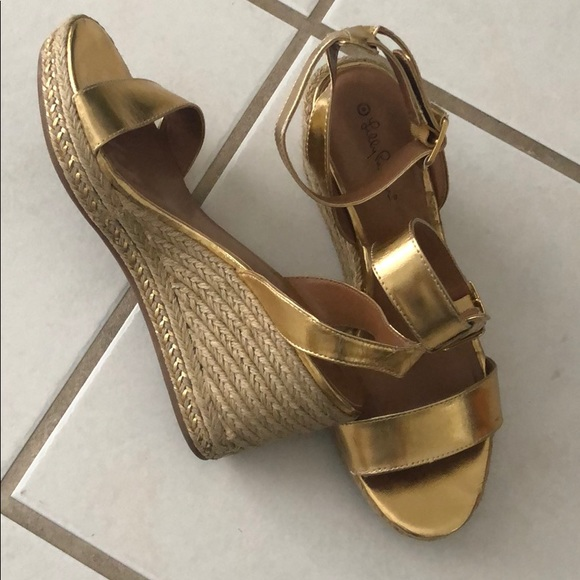 7c4f61c26f6 Lilly Pulitzer for Target Shoes - Lilly Pulitzer for target gold wedge